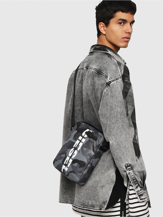 Diesel - F-BOLD SMALL CROSS, Grey - Crossbody Bags - Image 5