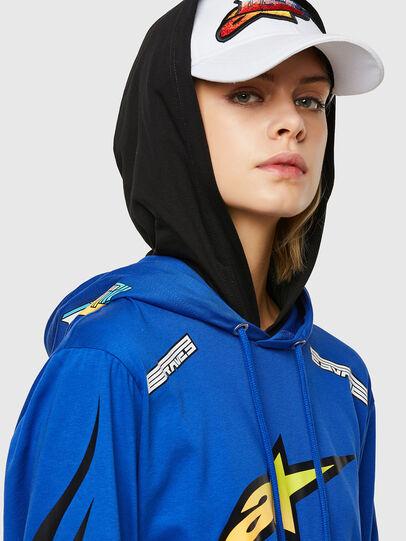Diesel - ASTARS-T-JUSTOOD-FL, Blue - T-Shirts - Image 3