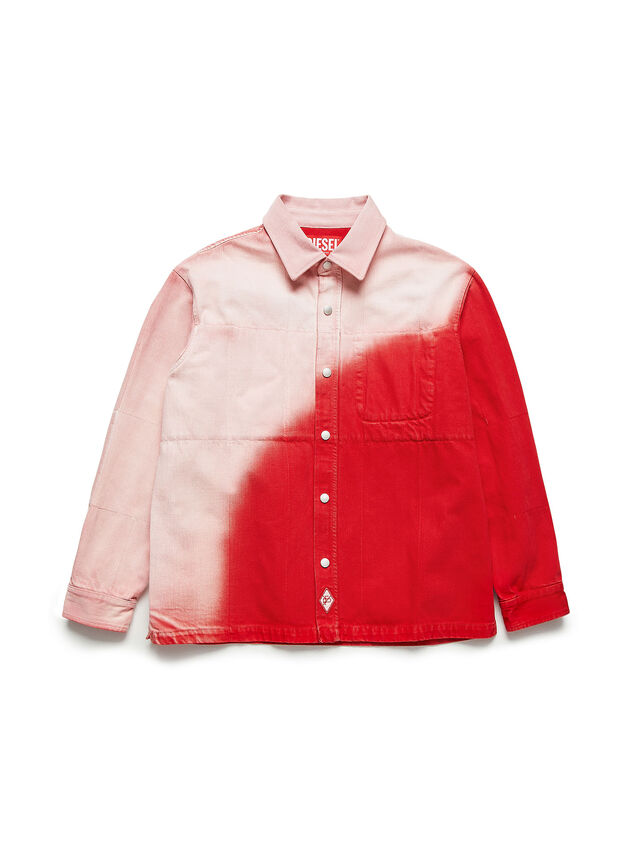 Diesel - GR02-B301, Red/White - Denim Shirts - Image 1