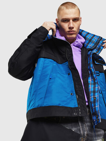 Diesel - W-HELBERT, Black/Blue - Winter Jackets - Image 4