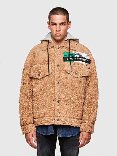 Diesel - W-GARY, Beige - Winter Jackets - Image 1