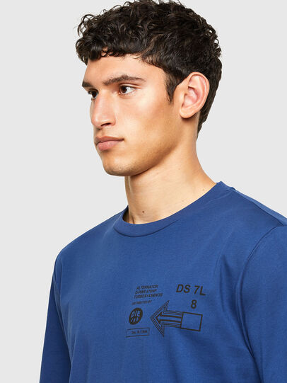 Diesel - T-JUST-A39, Blue - T-Shirts - Image 3