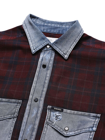 Diesel - D-DEEPCHECK-B, Red - T-Shirts - Image 4