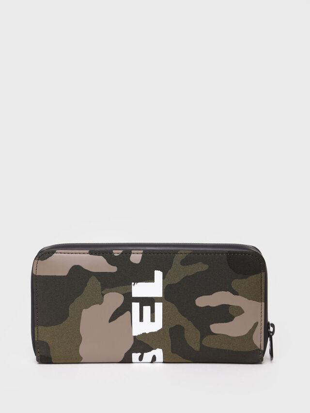 Diesel - 24 ZIP, Green Camouflage - Zip-Round Wallets - Image 2