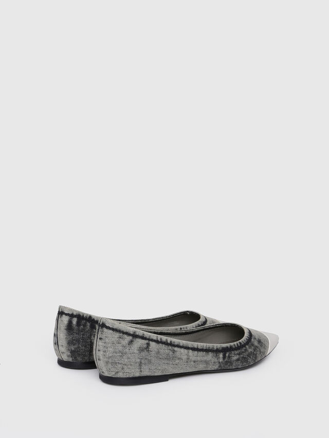 Diesel - D-FOVETTE II, Grey Jeans - Flats - Image 2