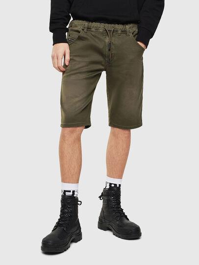 Diesel - D-KROOSHORT JOGGJEANS, Dark Green - Shorts - Image 1
