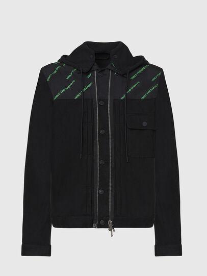 Diesel - D-COSMIC, Black - Denim Jackets - Image 1