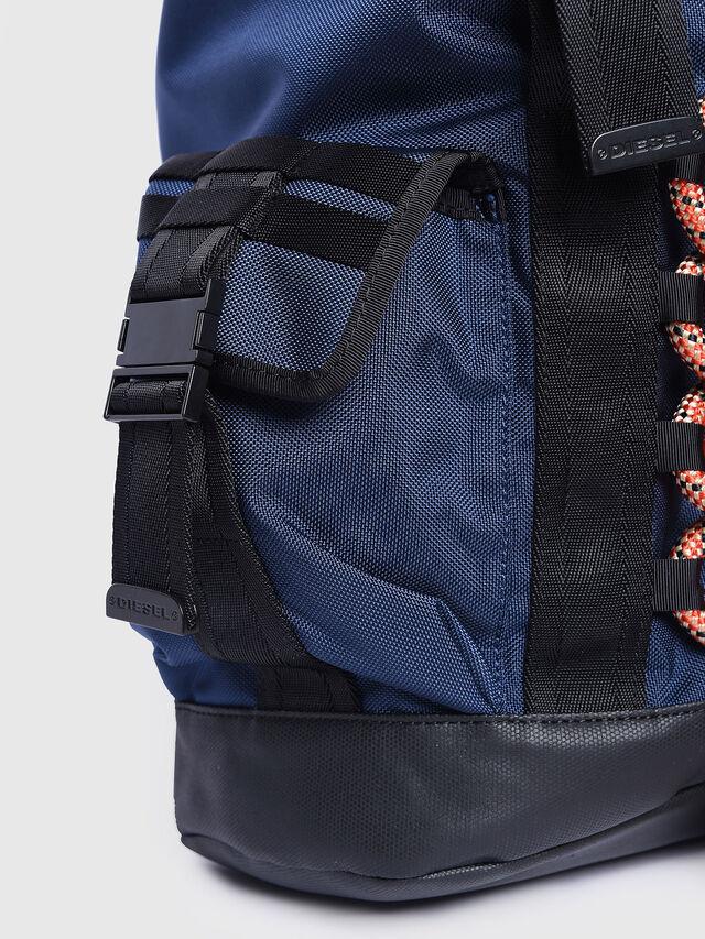 Diesel - M-CAGE BACK, Blue/Orange - Backpacks - Image 5