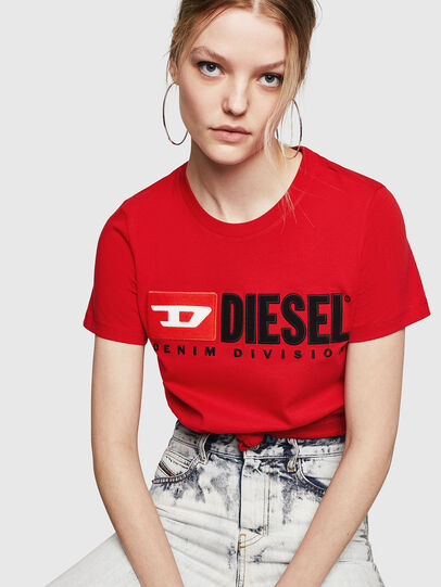 Diesel - T-SILY-DIVISION, Fire Red - T-Shirts - Image 4
