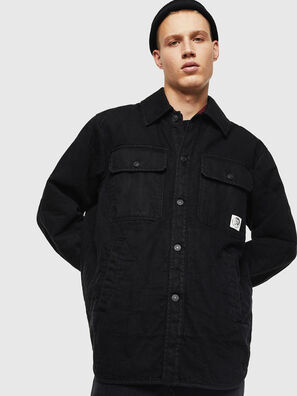 D-WELLES, Black/Red - Denim Shirts