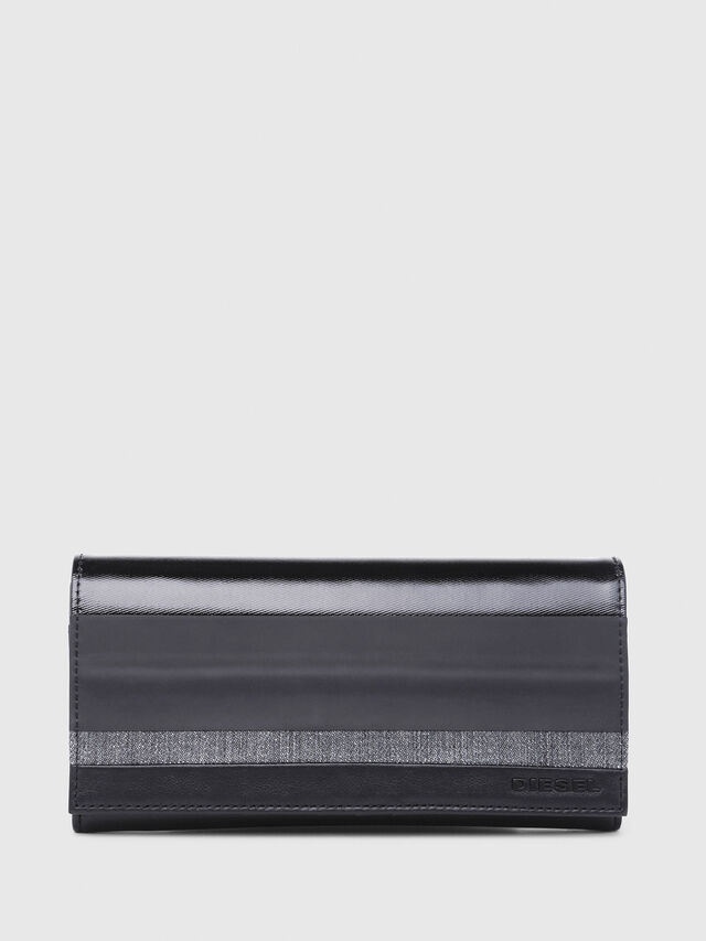 Diesel - 24  A DAY, Gray/Black - Continental Wallets - Image 1
