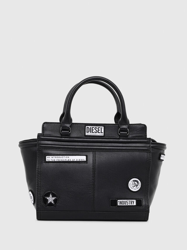 Diesel - LE-ZIPPER SATCHEL S, Black - Shopping and Shoulder Bags - Image 1