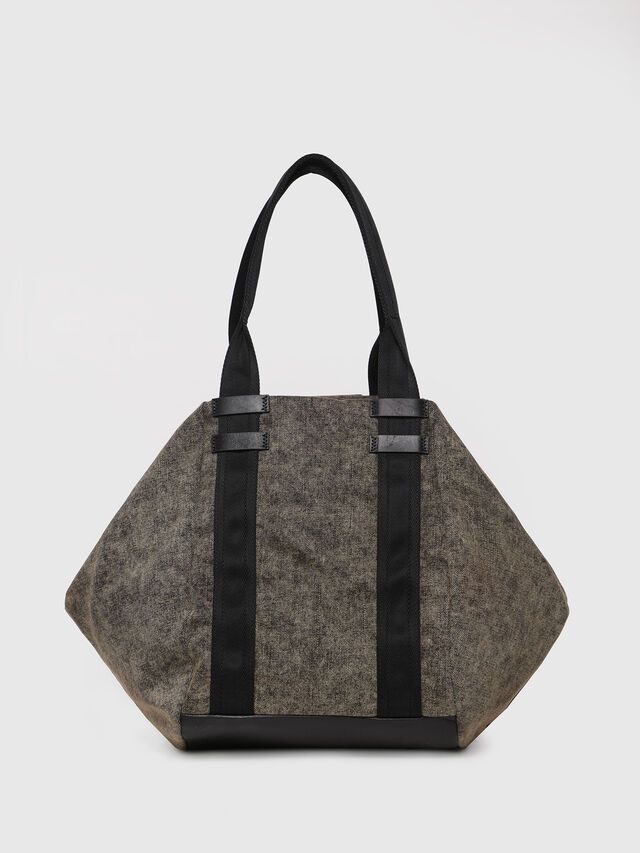 Diesel - D-CAGE SHOPPER, Grey Jeans - Shopping and Shoulder Bags - Image 2