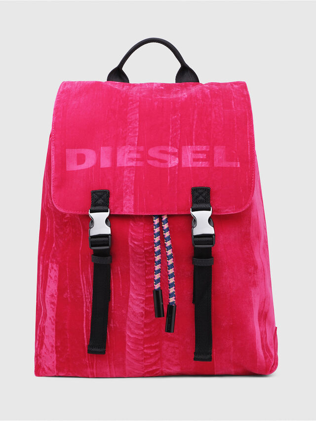 Diesel - F-MUSILE BACKPACK, Pink Fluo - Clutches - Image 1