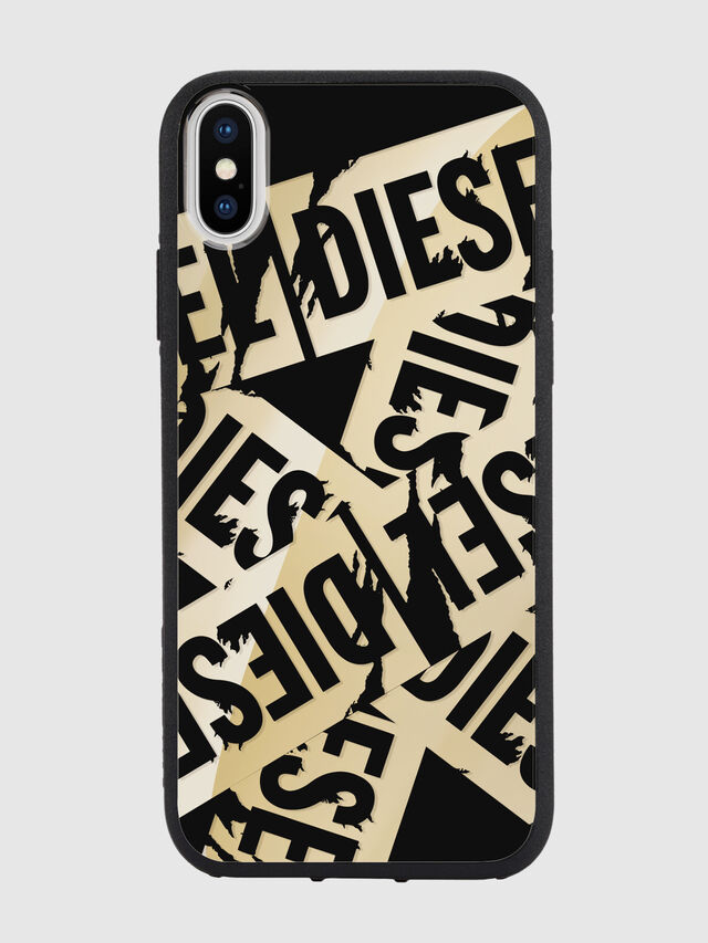 Diesel - MULTI TAPE GOLD/BLACK IPHONE X CASE, Gold - Cases - Image 2