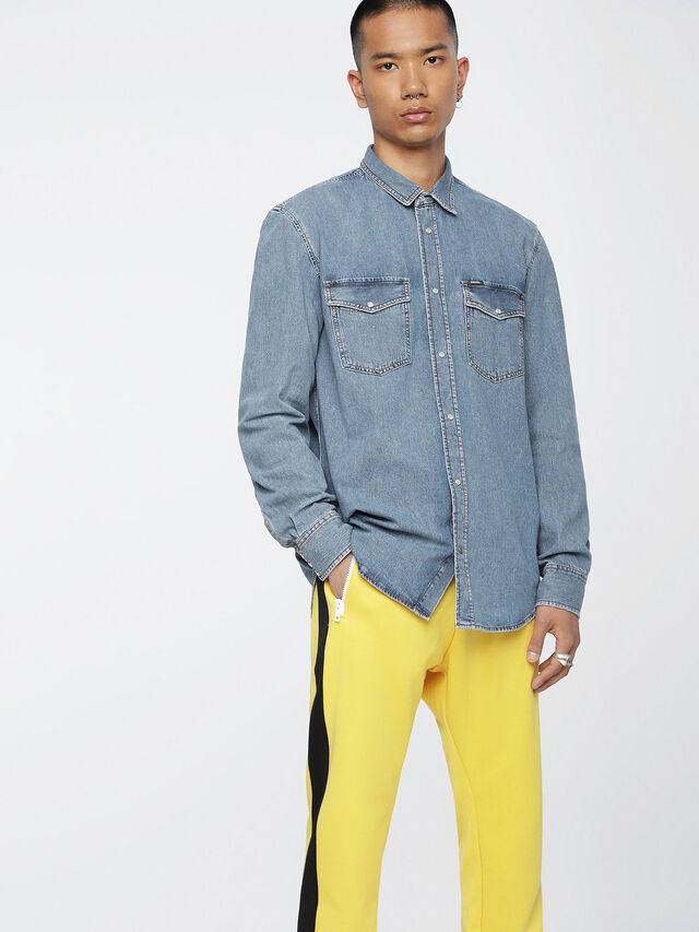 Diesel D-ROOKE, Blue Jeans - Denim Shirts - Image 1
