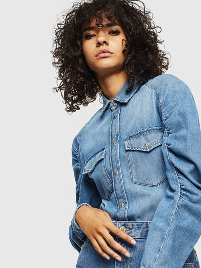Diesel - DE-RINGY-R, Light Blue - Denim Shirts - Image 3