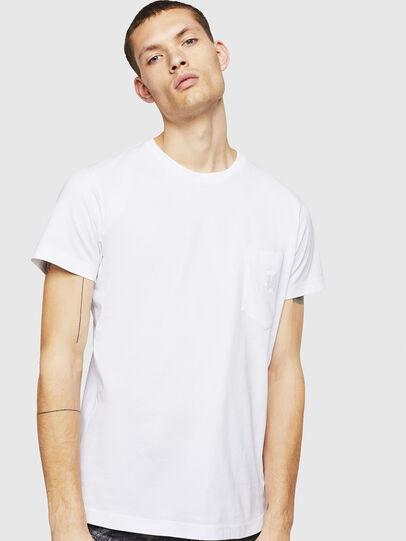 Diesel - T-DIEGO-POCKET-B1, White - T-Shirts - Image 1
