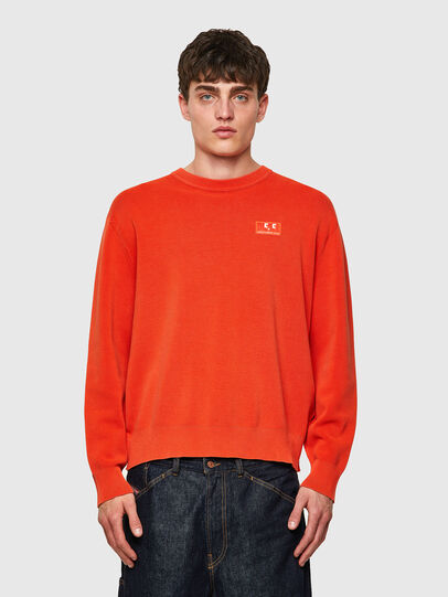 Diesel - K-JERSEY, Orange - Knitwear - Image 1