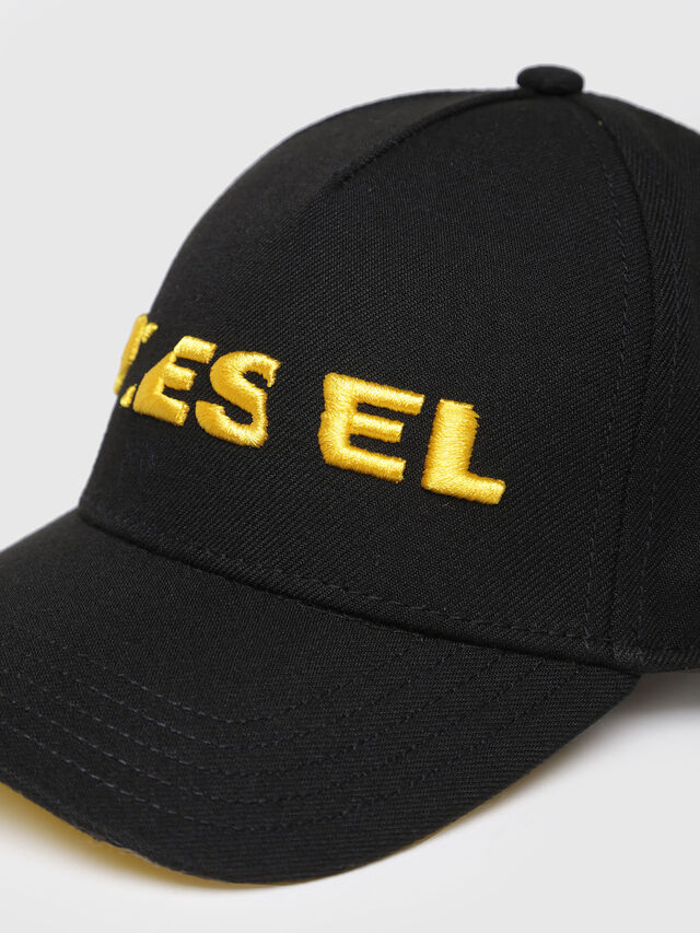 Diesel - CIDIES, Black/Yellow - Caps, Hats and Gloves - Image 3