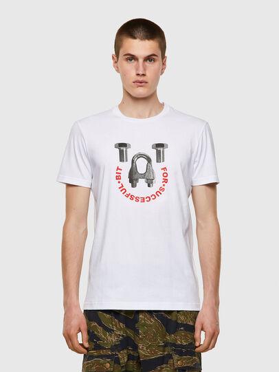 Diesel - T-DIEGOS-B3, White - T-Shirts - Image 1