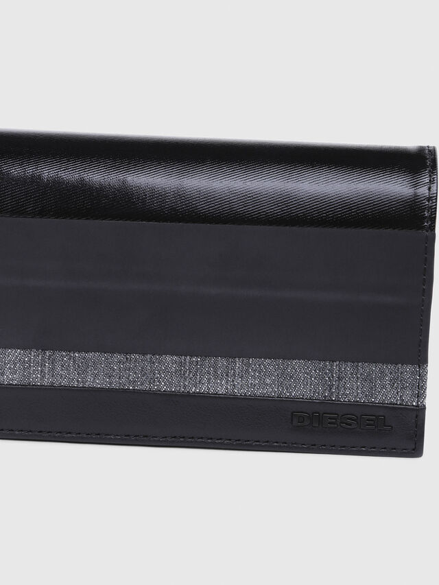Diesel - 24  A DAY, Gray/Black - Continental Wallets - Image 4