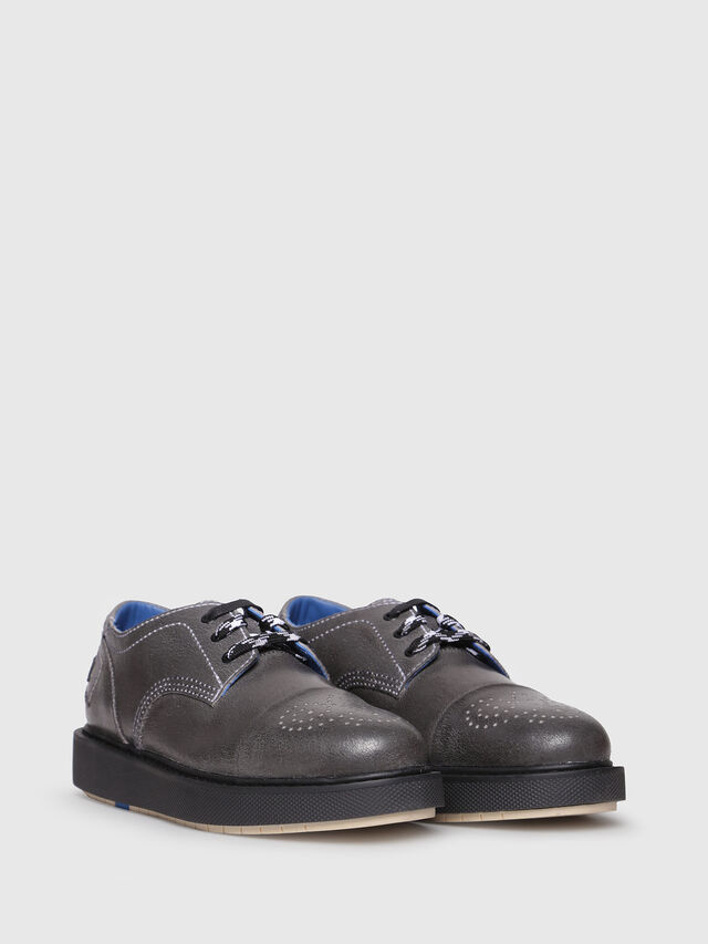 Diesel - D-CAGE DB CT, Grey - Lace Ups and Mocassins - Image 2