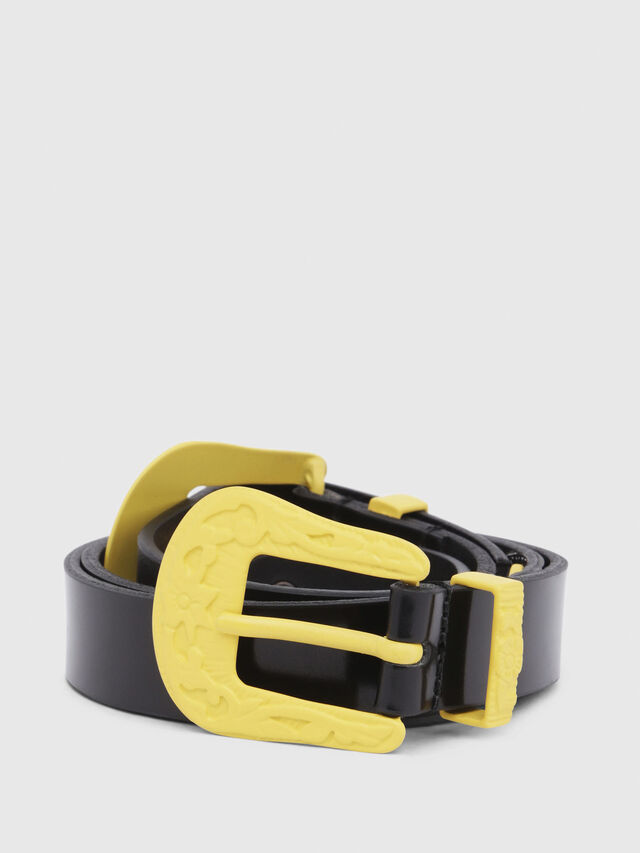 Diesel - B-CALDIERO, Black/Yellow - Belts - Image 1