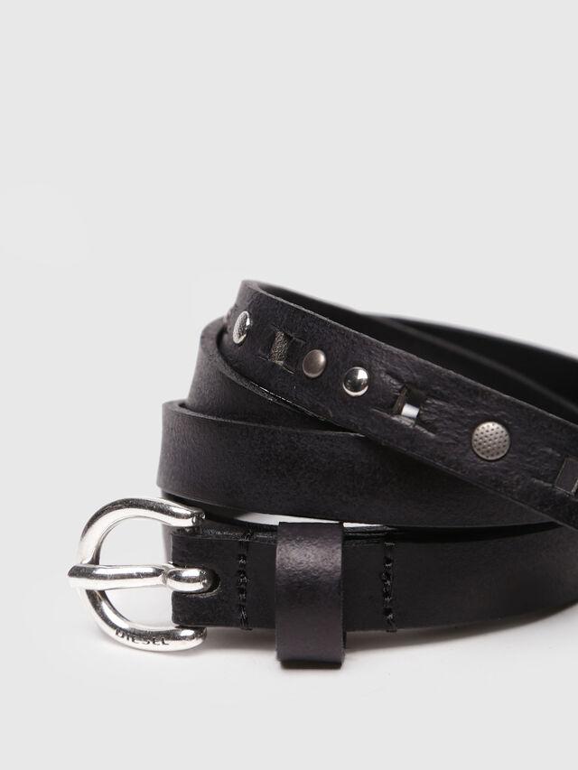 Diesel - B-WANNINA, Black Leather - Belts - Image 2