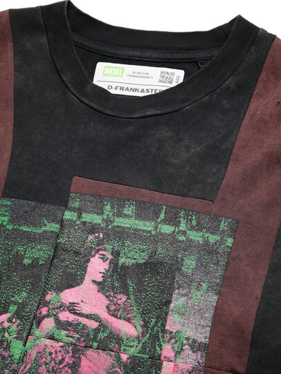 Diesel - D-FRANK&STEIN, Red/Black - T-Shirts - Image 3