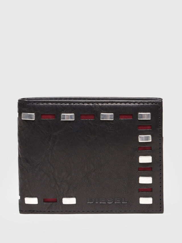 Diesel - HIRESH XS, Black Leather - Small Wallets - Image 1