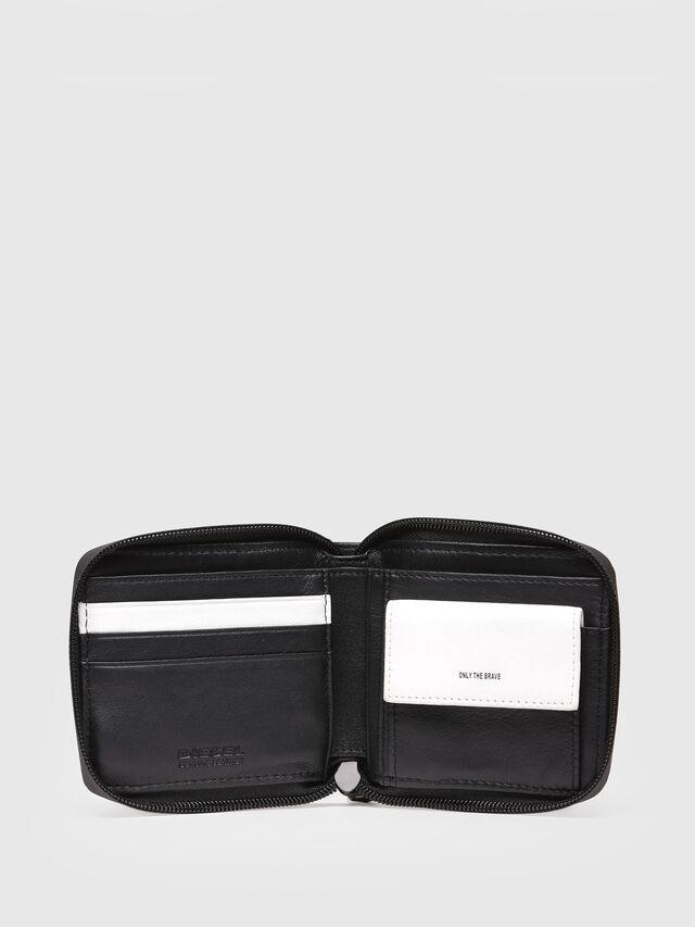 Diesel - ZIPPY HIRESH S, Black/White - Small Wallets - Image 3