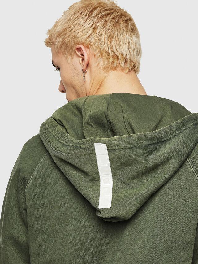 Diesel - S-GIM-HOOD-ZIP, Dark Green - Sweaters - Image 3