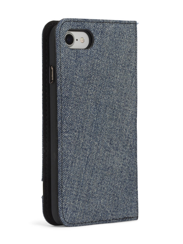 Diesel DENIM IPHONE 8 PLUS/7 PLUS FOLIO, Blue Jeans - Flip covers - Image 7