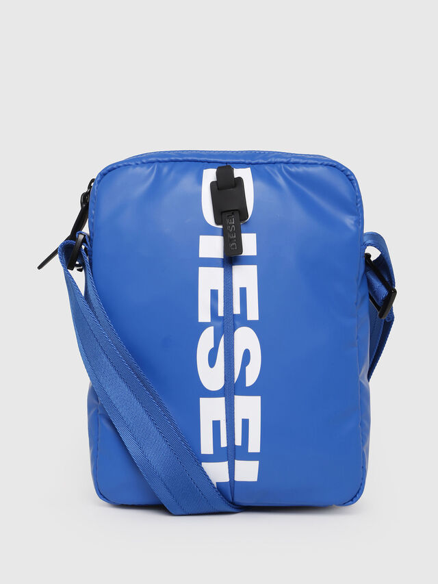 Diesel - F-BOLD SMALL CROSS, Brilliant Blue - Crossbody Bags - Image 1