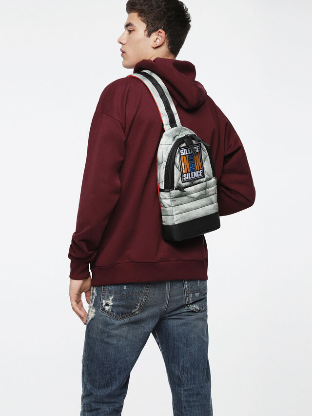 Diesel - F-HEYODA MONO, Light Grey - Backpacks - Image 5