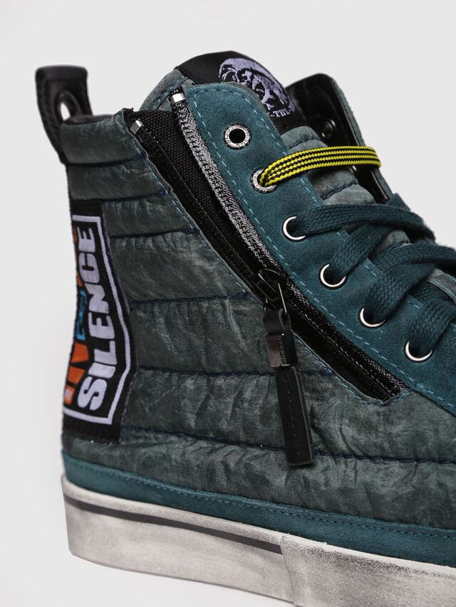Diesel - D-VELOWS MID PATCH, Water Green - Sneakers - Image 4