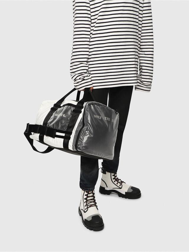 Diesel - M-CAGE DUFFLE M, White/Black - Travel Bags - Image 6