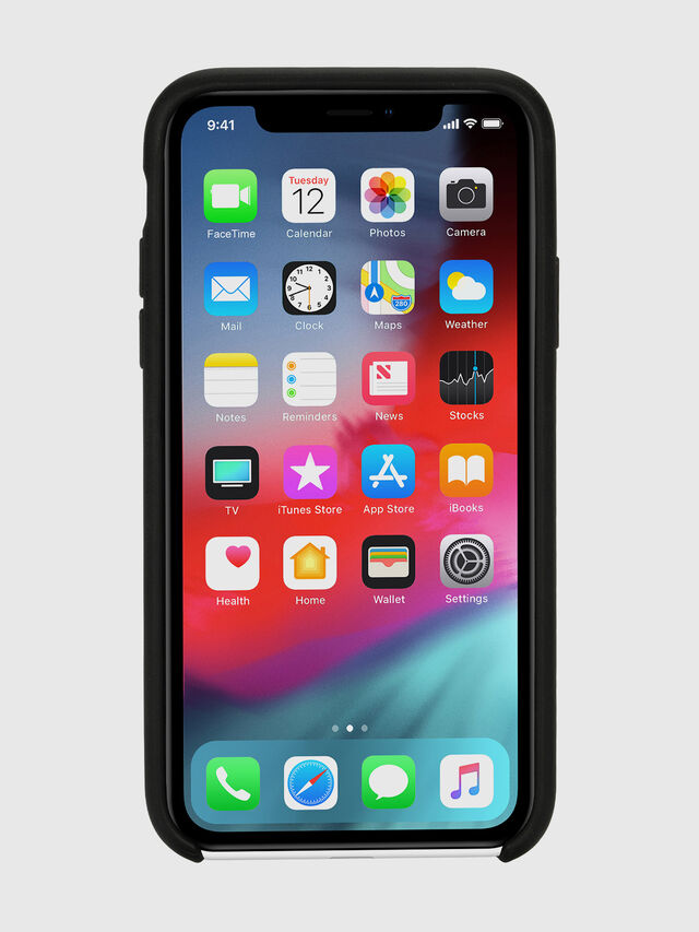 Diesel - DIESEL LEATHER CO-MOLD CASE FOR IPHONE XR, Black - Cases - Image 4