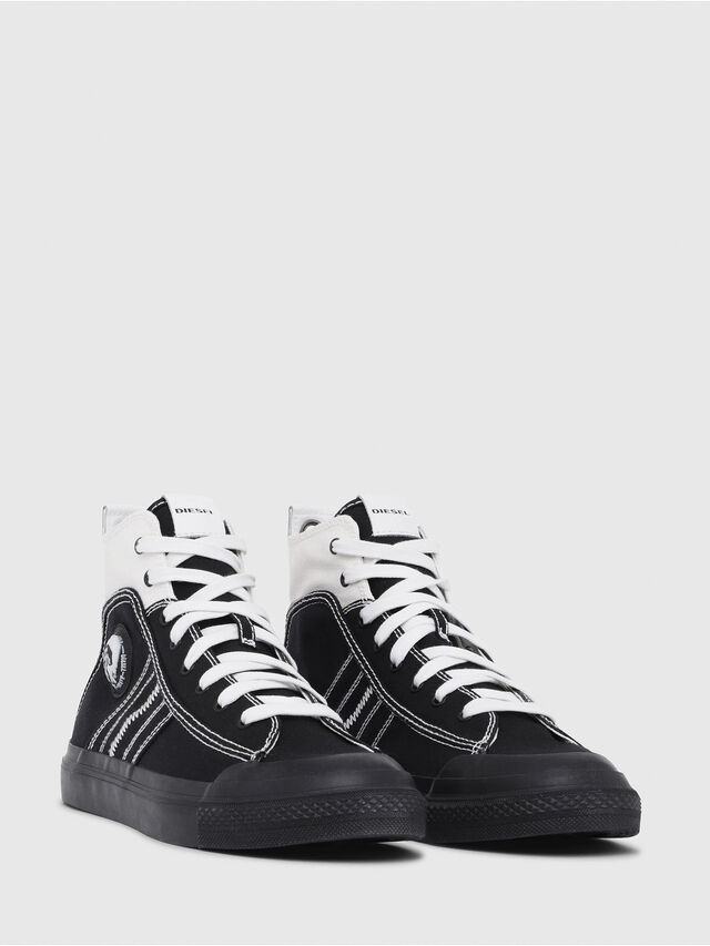 Diesel - S-ASTICO MID LACE, Black/White - Sneakers - Image 2