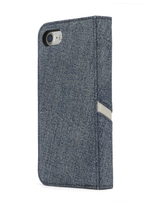 Diesel DENIM IPHONE 8 PLUS/7 PLUS FOLIO, Blue Jeans - Flip covers - Image 6