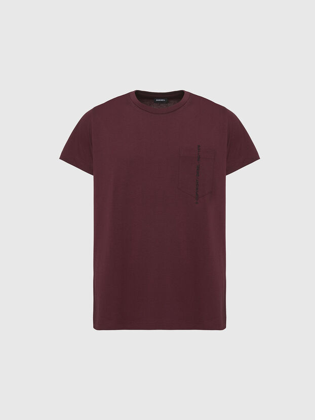 T-RUBIN-POCKET-J1, Bordeaux - T-Shirts