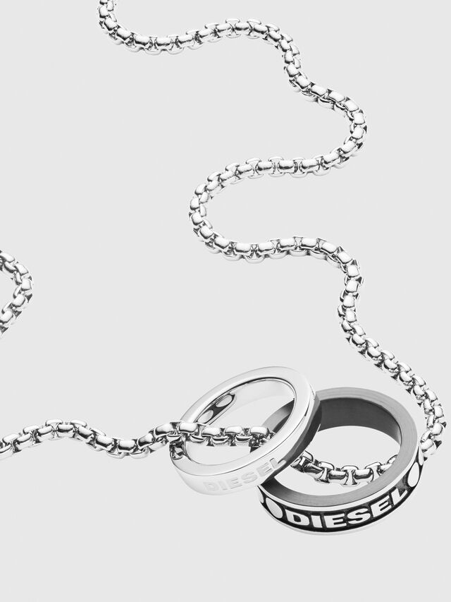 Diesel - DX1168, Silver - Necklaces - Image 2