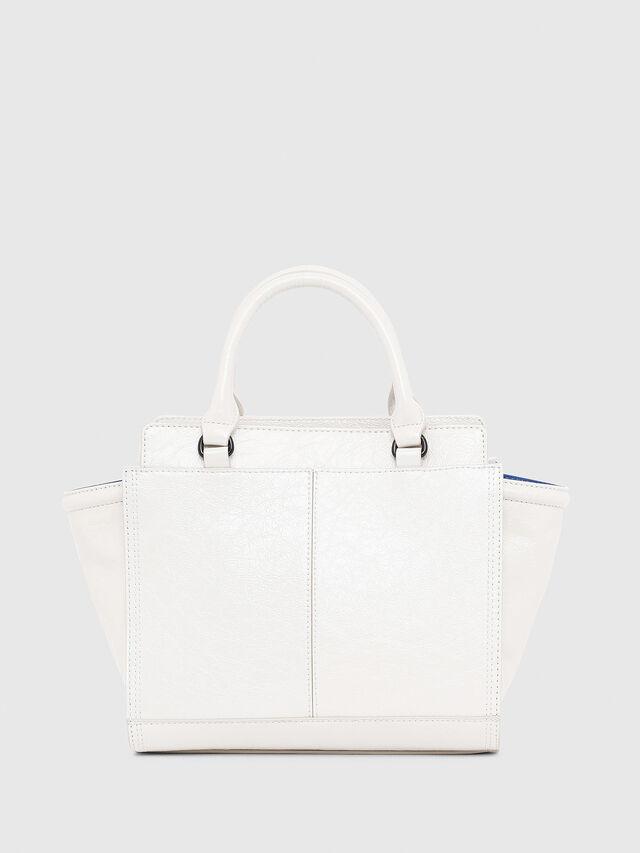 Diesel - LE-ZIPPER SATCHEL S, White - Satchels and Handbags - Image 2