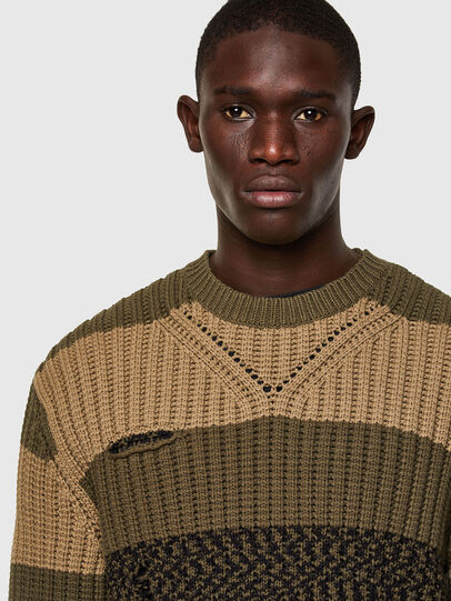 Diesel - K-COBALT, Military Green - Knitwear - Image 4