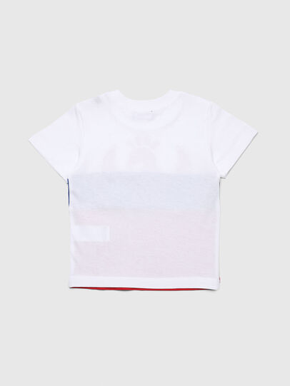 Diesel - TRICKYB-R, White/Red/Blu - T-shirts and Tops - Image 2