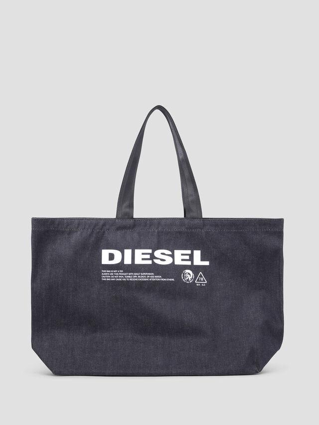 Diesel - D-THISBAG SHOPPER L, Blue Jeans - Shopping and Shoulder Bags - Image 1