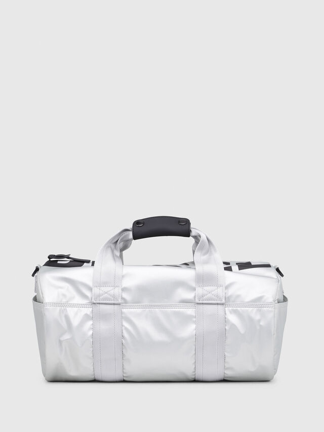 Diesel - F-BOLD DUFFLE FL, Silver - Travel Bags - Image 1