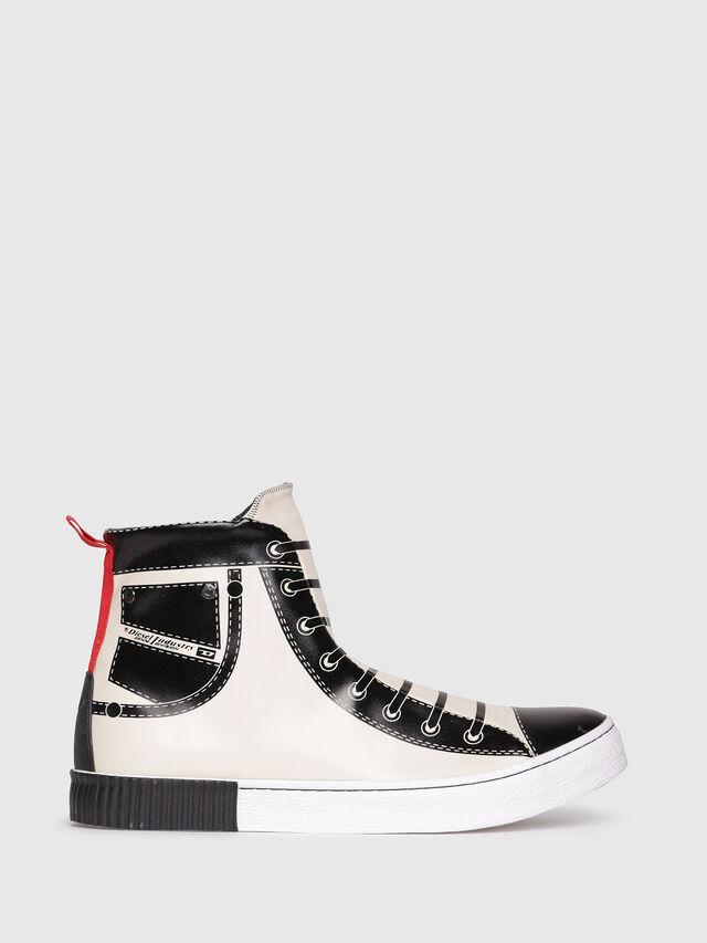 Diesel - S-DIESEL IMAGINEE MID, White/Black - Sneakers - Image 1