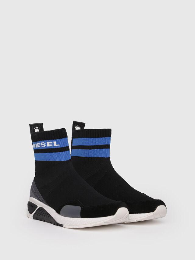 Diesel - S-KB SOCK, Black/Blue - Sneakers - Image 3